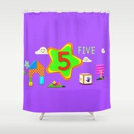 Number five - Kids Art Shower Curtain