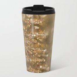 Golden Christmas Gliter Tree Decoration Travel Mug