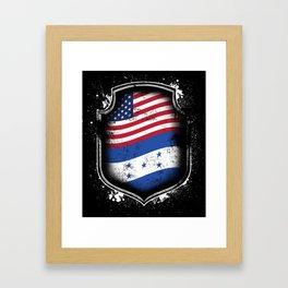 Honduran American Flag Framed Art Print