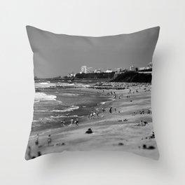 Biarritz, cote des basques. Throw Pillow