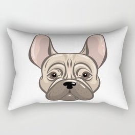 Cute Adorable French Bulldog Rectangular Pillow