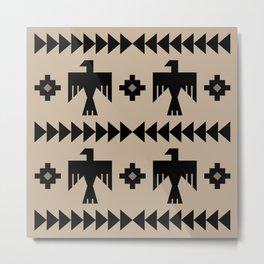 Southwestern Eagle and Arrow Pattern 125 Metal Print