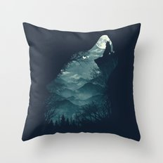 Hungry Wolf Throw Pillow