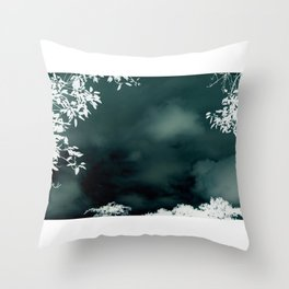 Stormy Silouhette Throw Pillow