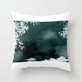 Stormy Silouhette Throw Pillow