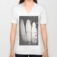 surfing V-neck T-shirts featuring surfing by short stories gallery