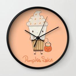 Pumpkin Spice! Wall Clock