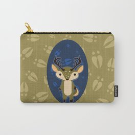Deer with Hoof Prints Carry-All Pouch