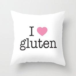 I Heart Gluten Throw Pillow