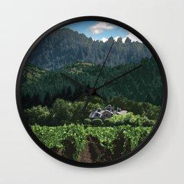 Napa Valley - Far Niente Winery, Oakville District Wall Clock