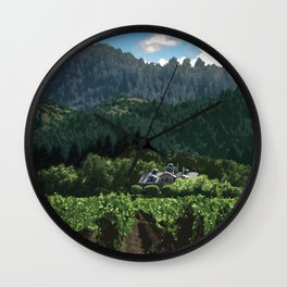 Napa Valley - Far Niente Winery, Oakville District Wall Clock