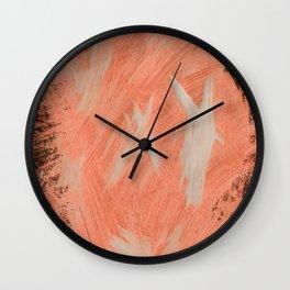 Kaws cross, Abstract, Orange Flamengo Wall Clock