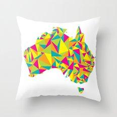 Abstract Australia Bright Earth Throw Pillow