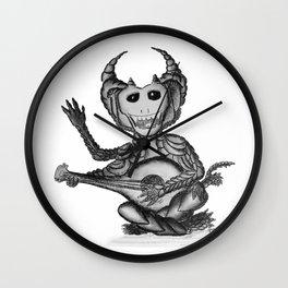 Nikademus, the Dragon Lute Player Wall Clock