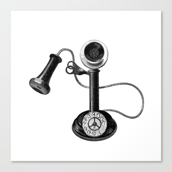 Old telephone Canvas Print