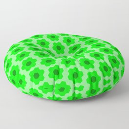 Floral No. 2 -- Lime Floor Pillow