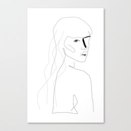 Face Of Art Canvas Print