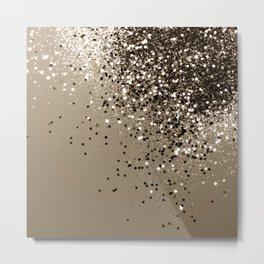 Sparkling Sepia Lady Glitter #1 #shiny #decor #art #society6 Metal Print
