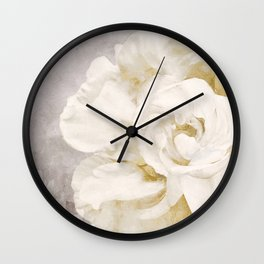 Petals Impasto Alabaster Wall Clock