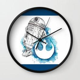 R2 Droid -blue Wall Clock