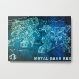 Metal Gear Rex Metal Print
