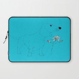 Blue Dachsund Love Laptop Sleeve