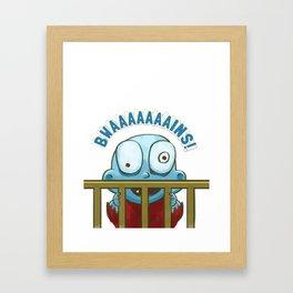Nobody puts Baby Zombie in a corner! Framed Art Print