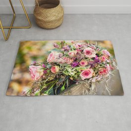 Fantastic Lovely Corsage Of Various Flowers Zoom UHD Rug