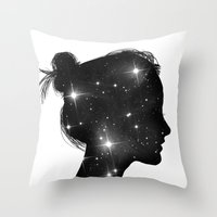 sister Throw Pillows featuring Star Sister by Beyond Infinite