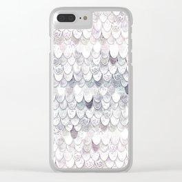 MAGIC MERMAID WHITE Clear iPhone Case