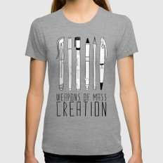 weapons of mass creation MEDIUM Tri-Grey Womens Fitted Tee