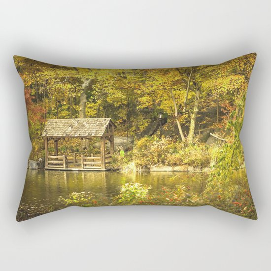 Autumn Lakeside Retreat Rectangular Pillow