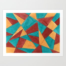 Patches Art Print