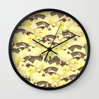 cows Wall Clocks featuring Cows by Ana Elisa Granziera