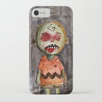 charlie brown iPhone & iPod Cases featuring You're a zombie Charlie Brown by byron rempel