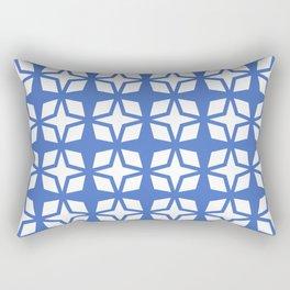 Mid Century Modern Star Pattern Blue 552 Rectangular Pillow