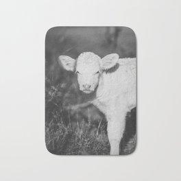 Cute Calf (Black and White) Bath Mat