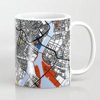 mondrian Mugs featuring Tokyo Mondrian by Mondrian Maps