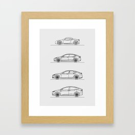 TESLA LINE UP Framed Art Print