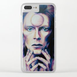 Moonage Daydream- David Bowie Art Clear iPhone Case