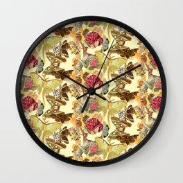 Garden Moths Wall Clock