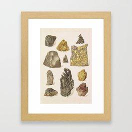 Vintage Gold Minerals Framed Art Print
