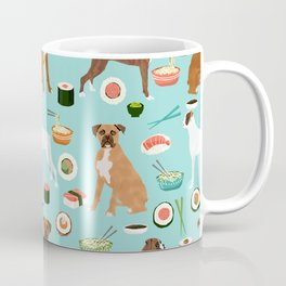 boxer sushi dog lover pet gifts cute boxers pure breeds Coffee Mug