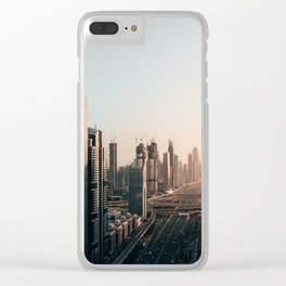 Dubai Skyline Clear iPhone Case