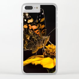 Zinnia Sipping Clear iPhone Case