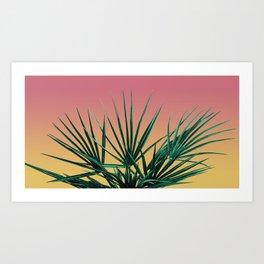 Vaporwave Palm Life - Miami Sunset Art Print