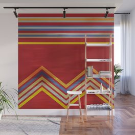 Stripes and Chevrons Ethic Pattern Wall Mural