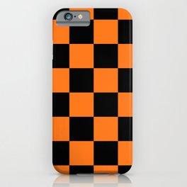 Halloween Orange and Black Checkerboard Pattern LG iPhone Case