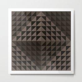 Triangular Mesh III Metal Print