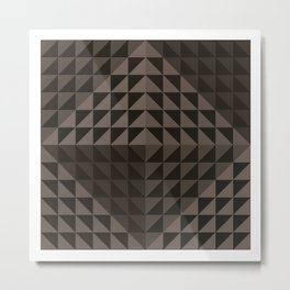 Triangular Mesh III Metal Print